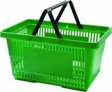 Корзинки для супермаркетов  светло-салатовая и др.