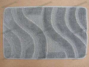 Набор для ванной 60х100+60х50см. Серые-волны, Цвет (Светло-серый)
