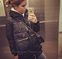 Женская зимняя удлиненная куртка парка трансформер  2 цвета