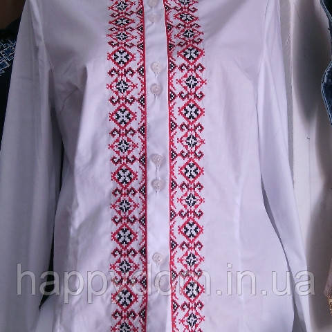 Вышиванка рубашка подросток белая