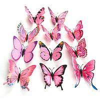 Нежо-розовые бабочки 3D для декораций.
