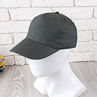 Темно-зеленая однотонная кепка на липучке (Комфорт)