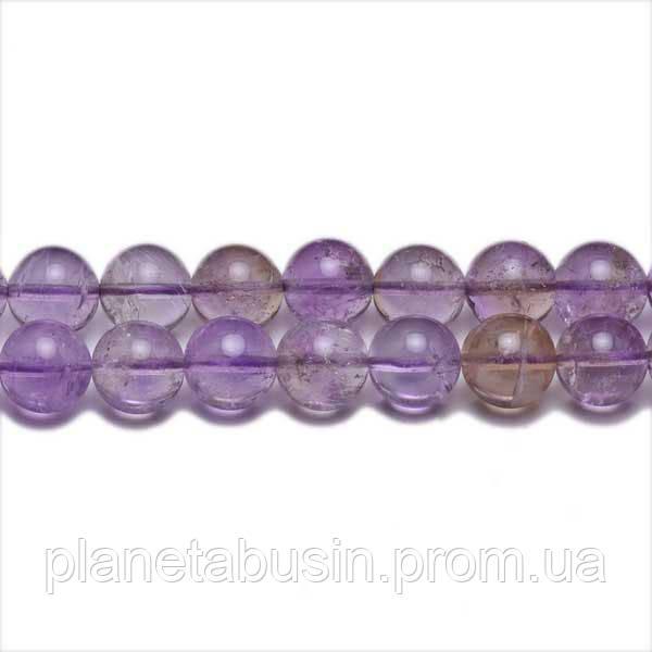 8 мм Аметрин АА, CN315, Натуральный камень, Форма: Шар, Отверстие: 1мм, кол-во: 47-48 шт/нить