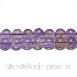 8 мм Аметрин АА, CN315, Натуральный камень, Форма: Шар, Отверстие: 1мм, кол-во: 47-48 шт/нить, фото 2