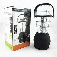 Динамо фонарь. 36 ULTRA LED - Солнечная батарея, от сети, от прикуривателя и динамо.