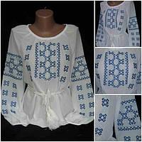 Вышитая женская блуза (шифон)