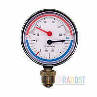 Термоманометр радиальный Afriso ТМ 80 (63341 R) 1/2 0-4 бар