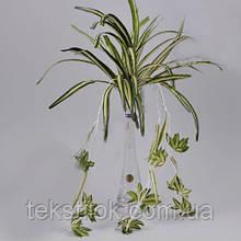 Ветка Хлорофитума свисающая 40 см зелень искусственная
