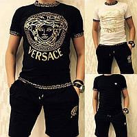 Футболка мужская Versace Черная (XL) Котон