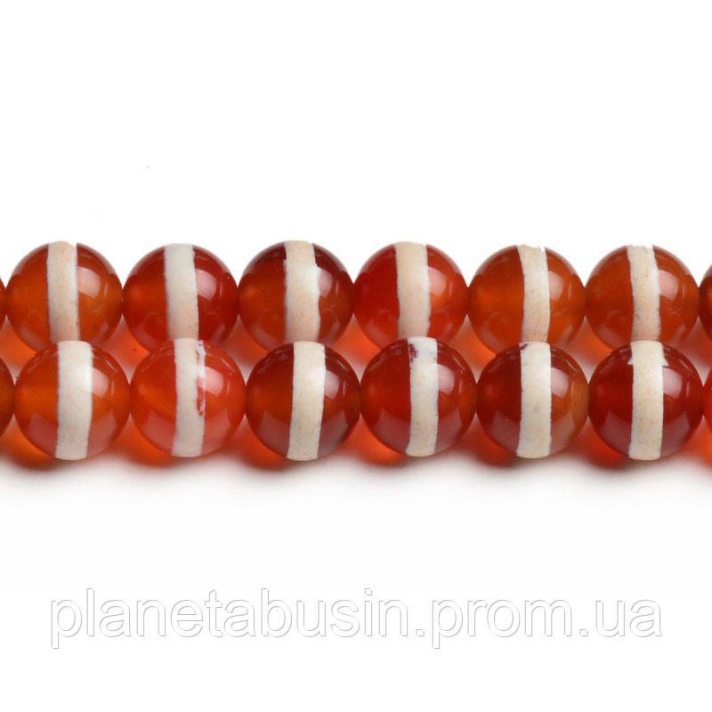 8 мм Дизайнерский Агат, CN317, Натуральный камень, Форма: Шар, Отверстие: 1мм, кол-во: 47-48 шт/нить