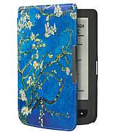 Обложка (чехол) для электронной книги PocketBook 614/615/624/625/626/Touch Lux 3 с графикой Сакура