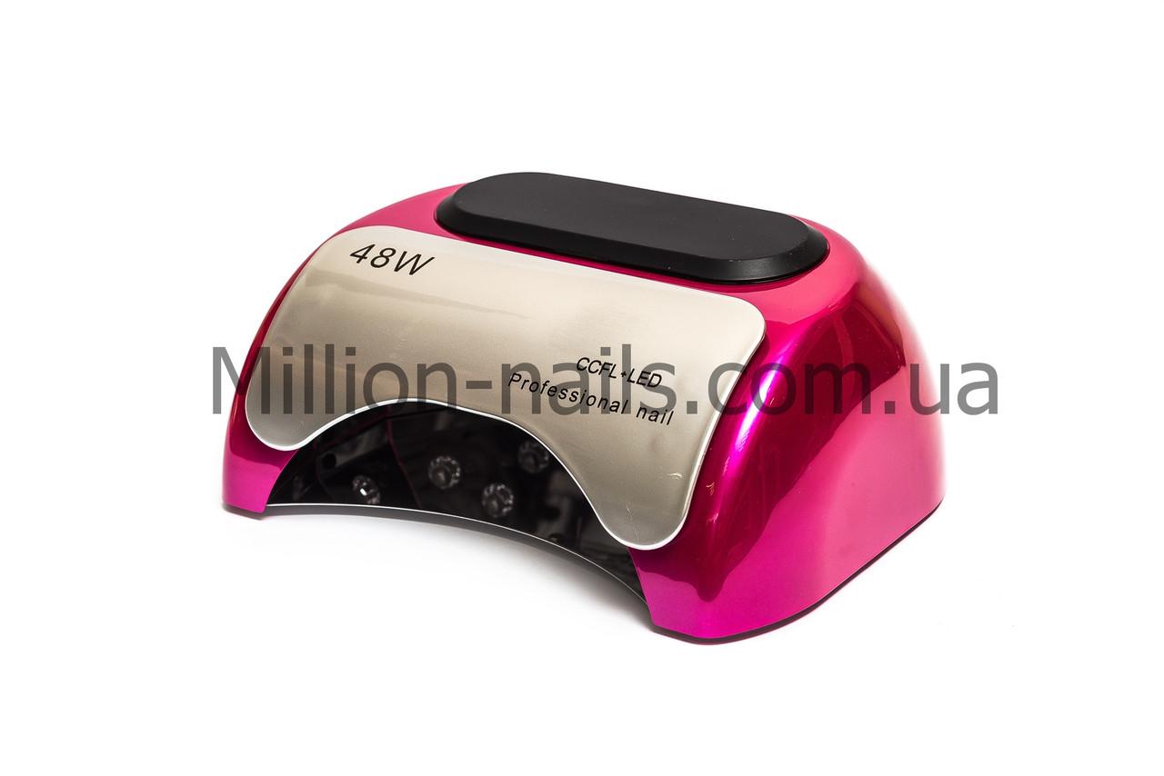 Профессиональная гибридная лампа для сушки ногтей CCFL+ LED с таймером, 48 Вт