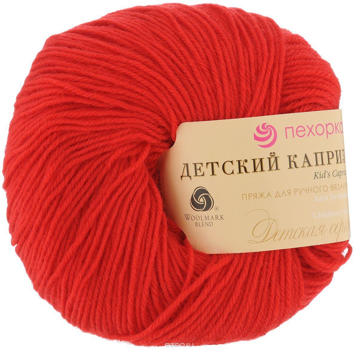 нитки для ручного вязания пряжа детский каприз красный мак