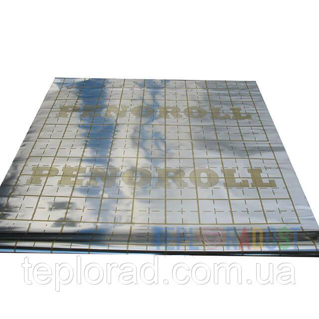 Металлизированная пленка с разметкой PENOROLL 100 мКр (рулон 50 метров)