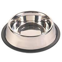 Trixiе (Трикси) Миска для собак металлическая с резинкой, 1.8л/ø20см
