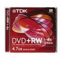 Диски DVD+RW TDK 4.7 Gb 4x Slim