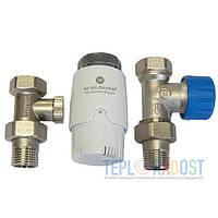 Комплект радиаторный прямой GZ 1/2 x GW 1/2 Schlosser Никель/Белый