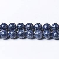 8 мм Речной Камень серый, CN319, Натуральный камень, Форма: Шар, Отверстие: 1мм, кол-во: 47-48 шт/нить