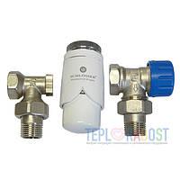 Комплект радиаторный угловой GZ 1/2 x GW 1/2 Schlosser Никель/Белый-2