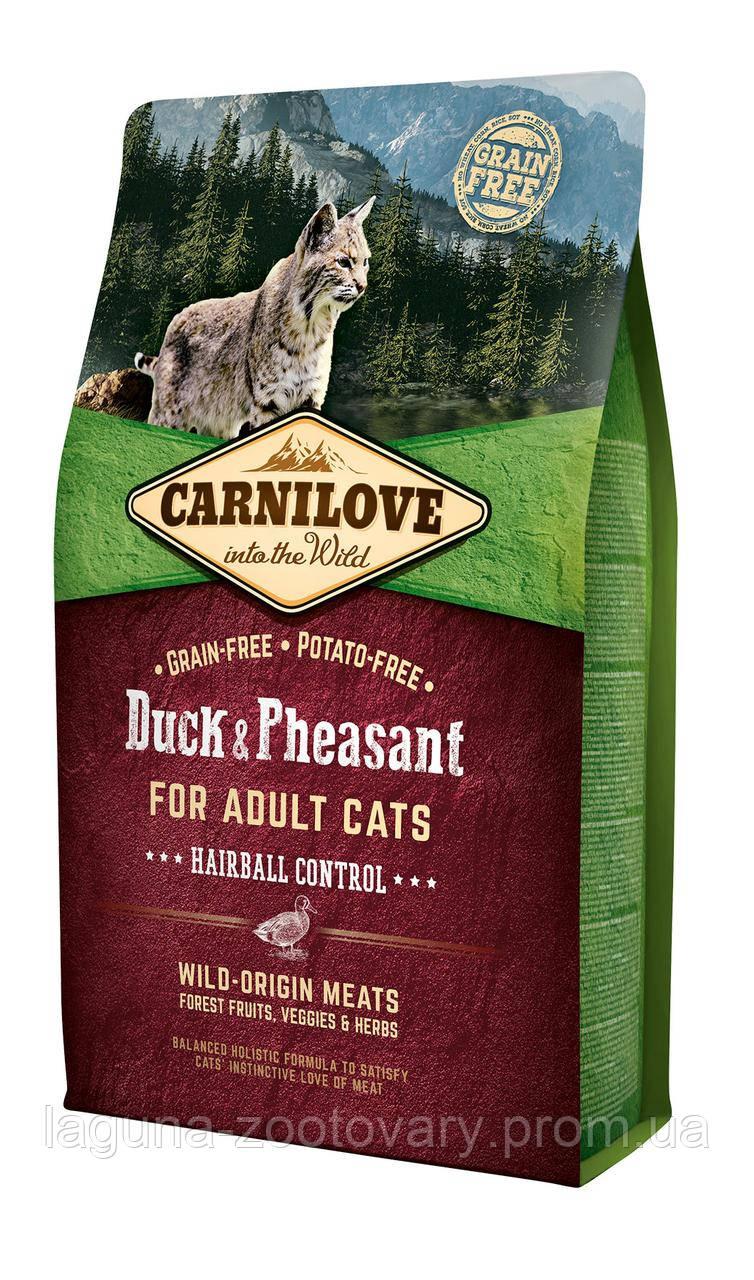Carnilove Cat 6 kg Duck & Turkey Large Breed (д/ крупных пород)
