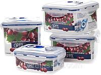 Набор вакуумных контейнеров для хранения продуктов 4 шт, Gipfel, арт. 4546