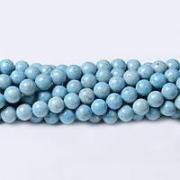 Светло-голубой Речной камень, Натуральный камень, На нитях, бусины 8 мм, Шар, кол-во: 47-48 шт/нить