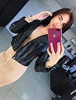 Женская красивая кожаная куртка  , фото 1