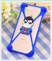 Универсальный 3D чехол-бампер Superman