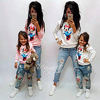 Свитшот детский и взрослый Family look (стоимость отдельно) (2 цвета)