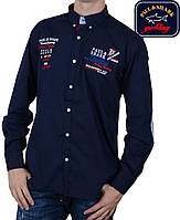 Рубашка Paul Shark-2322,темно-синяя