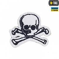 Нашивка M-Tac Old Skull белая, фото 1