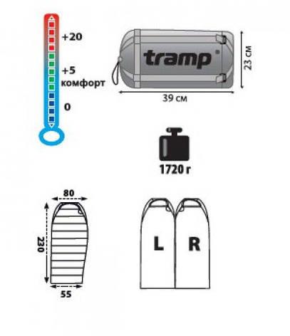 Спальный мешок Tramp Siberia 3000 индиго/черный R , фото 2