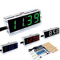 Светодиодные электронные часы Cnikesin DIY, набор для сборки(цвета в ассортименте)