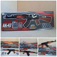 Детский автомат АК-47   «2 в 1 Launcher»