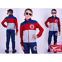 Спортивный костюм подростковый красный/синий