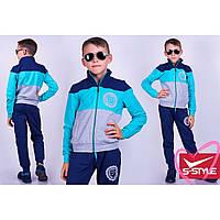 Спортивный костюм подростковый мята/синий