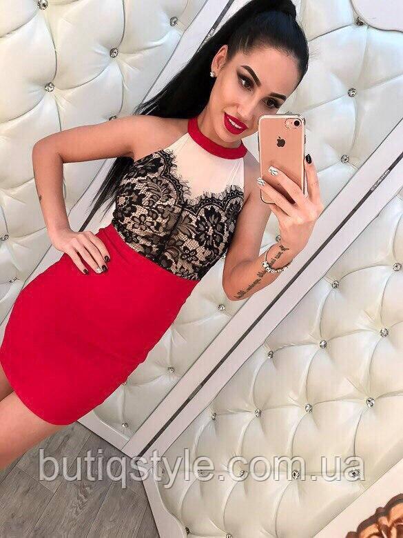 1bd0f117981 Красивое красное платье с гипюром и сеткой   продажа