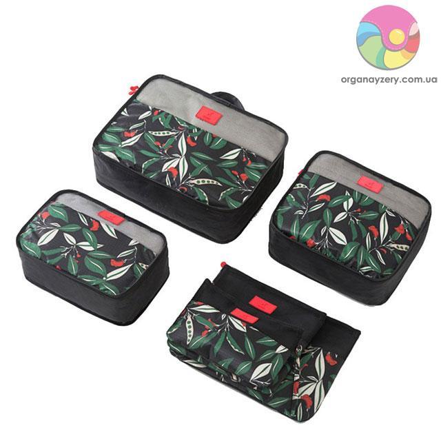 Комплект сумочек в чемодан (6 шт.) (чёрный)