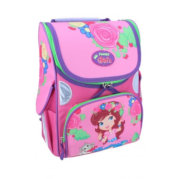 Рюкзак ранец школьный каркасный Girl&Kitty RAINBOW