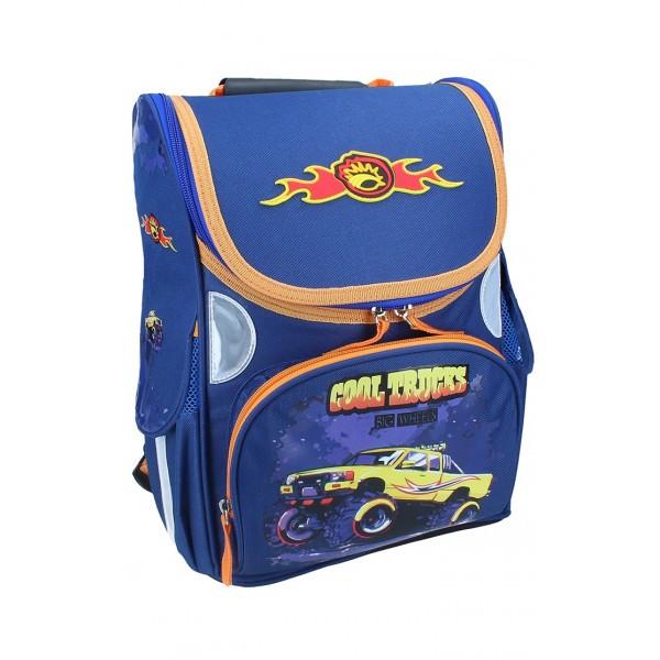 Рюкзак ранец школьный каркасный Trucks RAINBOW