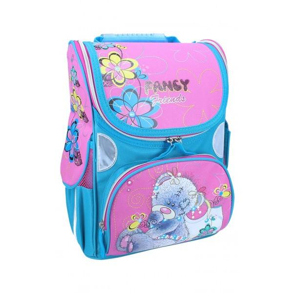 Рюкзак ранец школьный каркасный Bear RAINBOW