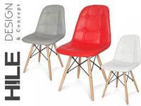 Кресло  Hile на деревянных ножках, красный  цвет
