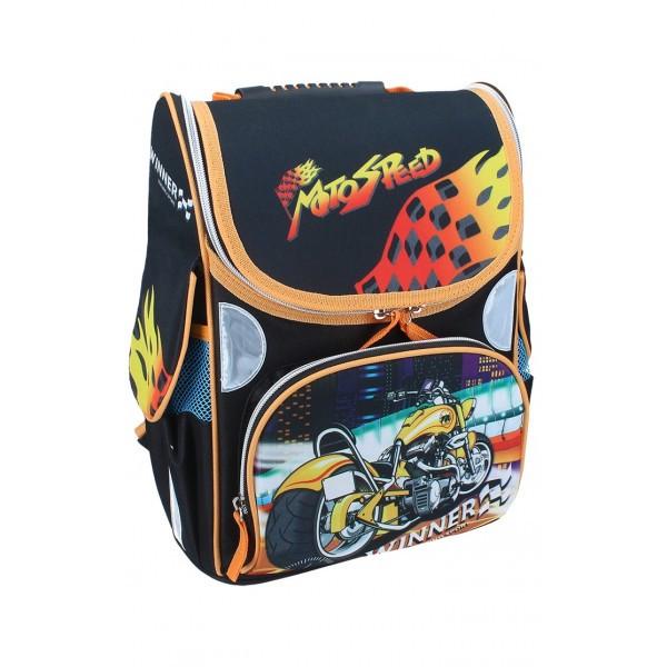 Рюкзак ранец школьный каркасный Moto Speed RAINBOW