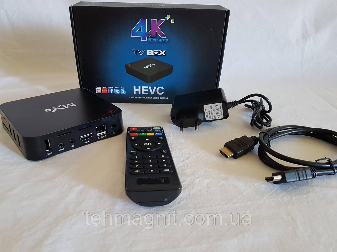 СМАРТ ПРИСТАВКИ ДЛЯ ТБ MX9 Smart TV Box Android Приставка смарт ТВ