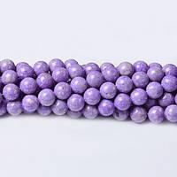 Лавандовый Речной камень, Натуральный камень, На нитях, бусины 8 мм, Шар, кол-во: 47-48 шт/нить