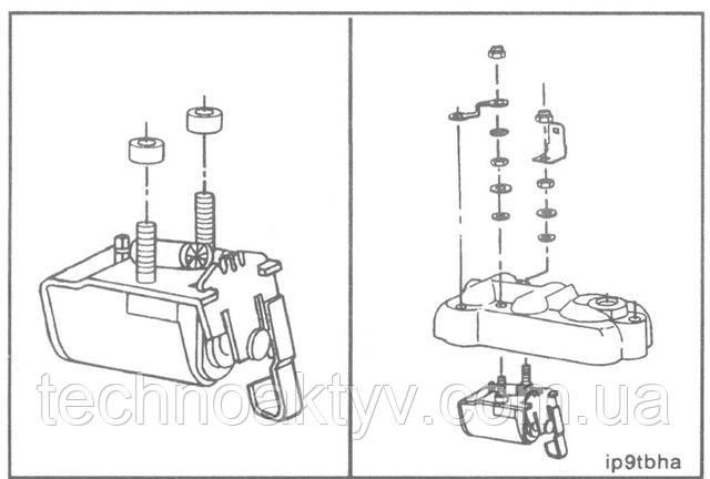 Ключ 5/16дюйма  Установите изолирующие втулки на клеммные шпильки нового электромагнита.  Установите электромагнит в крышку.  Крутящий момент затяжки:14 Н •м[12 in-lb]
