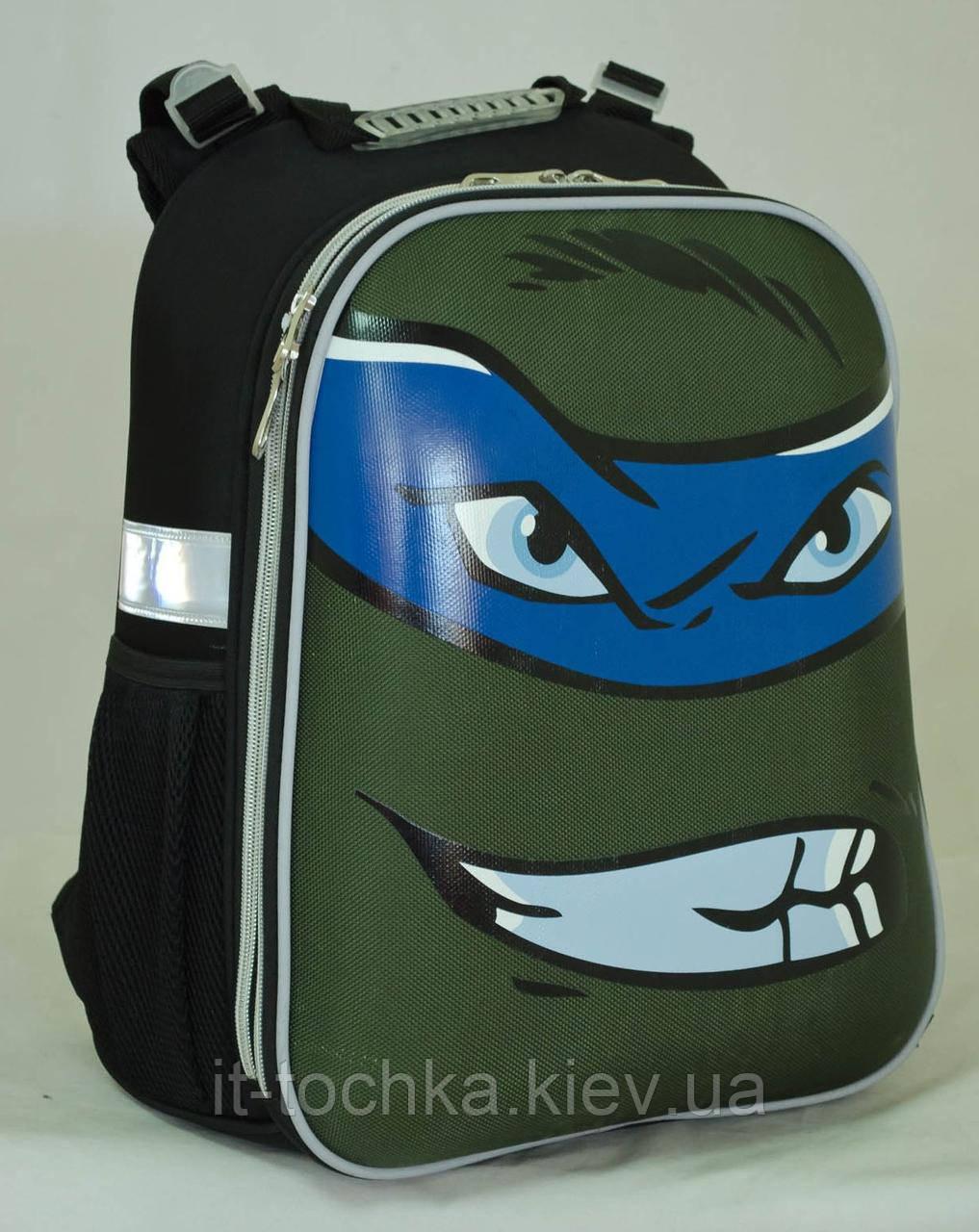 Школьный каркасный рюкзак 1 Вересня yes h-12 turtles face (553345)