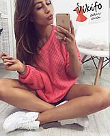 Женский модный вязаный свитер (расцветки)