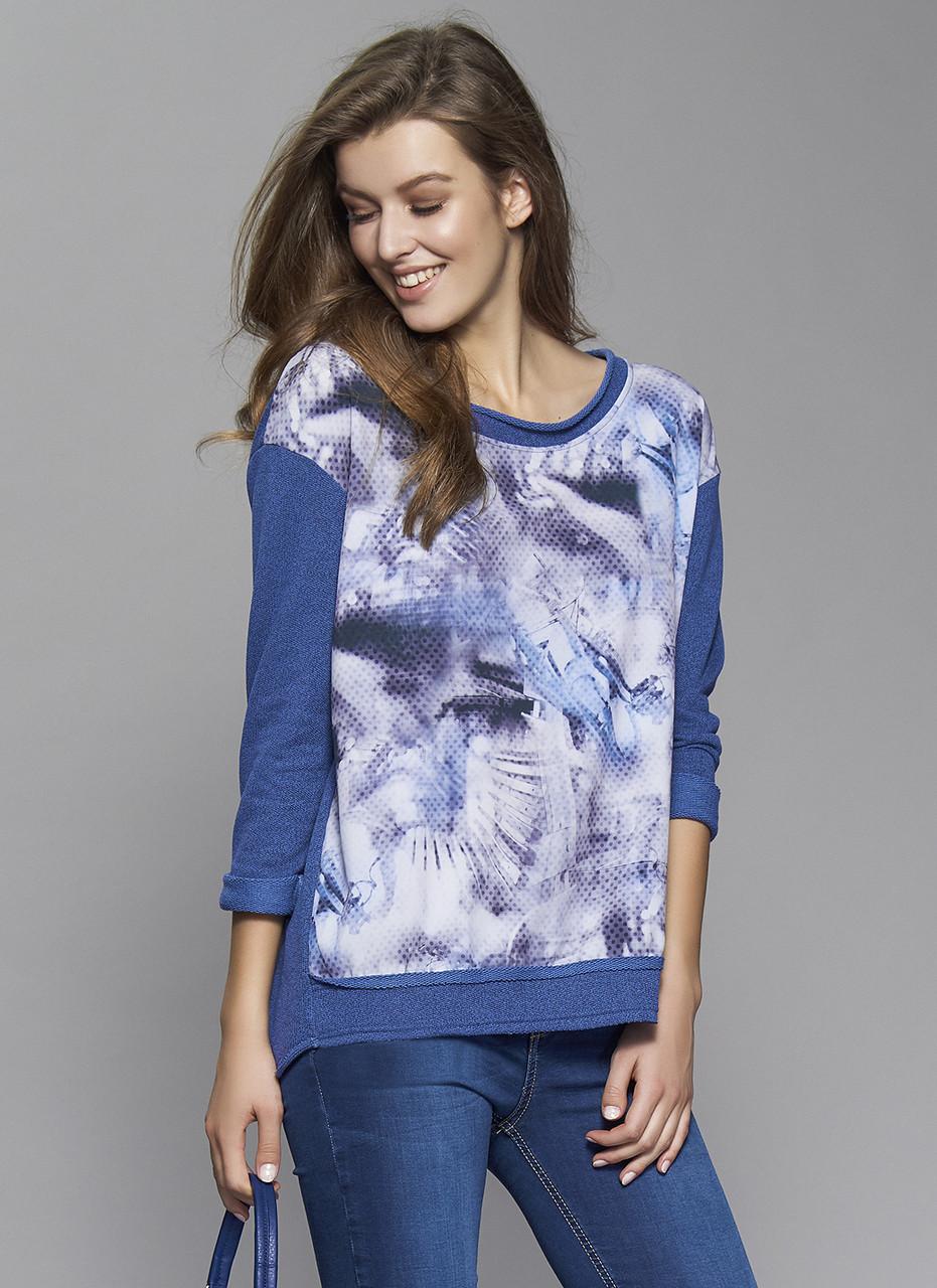 Женская трикотажная туника синего цвета Leporis Zaps, коллекция осень-зима