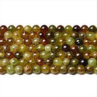 Зеленый Гранат, Натуральный камень, бусины 8 мм, Шар, Отверстие 1 мм, количество: 47-48 шт/нить